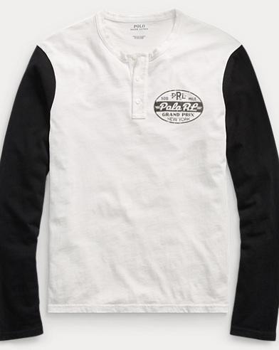Custom Slim Fit Cotton Henley