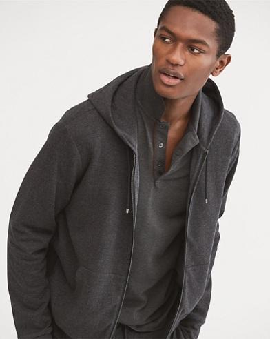 Cotton-Blend Full-Zip Hoodie