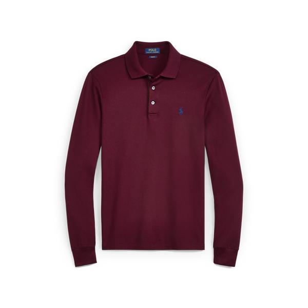 Ralph Lauren Slim Fit Long-Sleeve Polo Fall Burgundy Xs