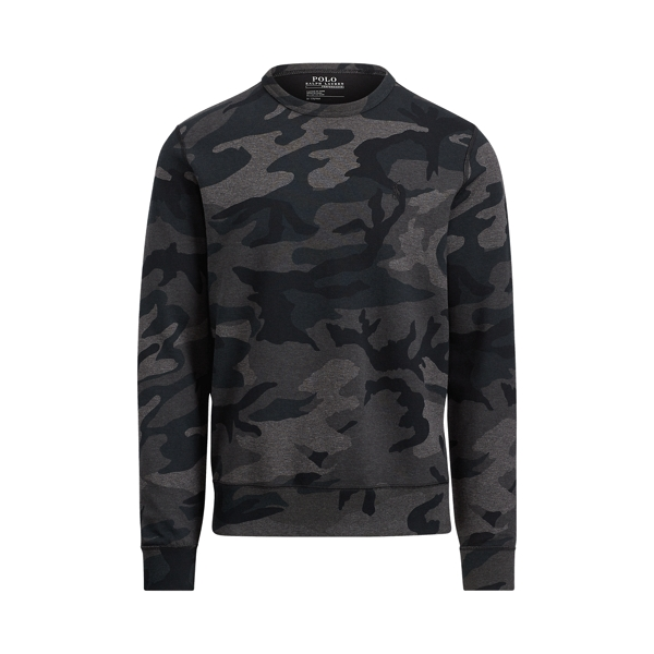 Ralph Lauren Camo Cotton-Blend Sweatshirt Grey Multi Camo M