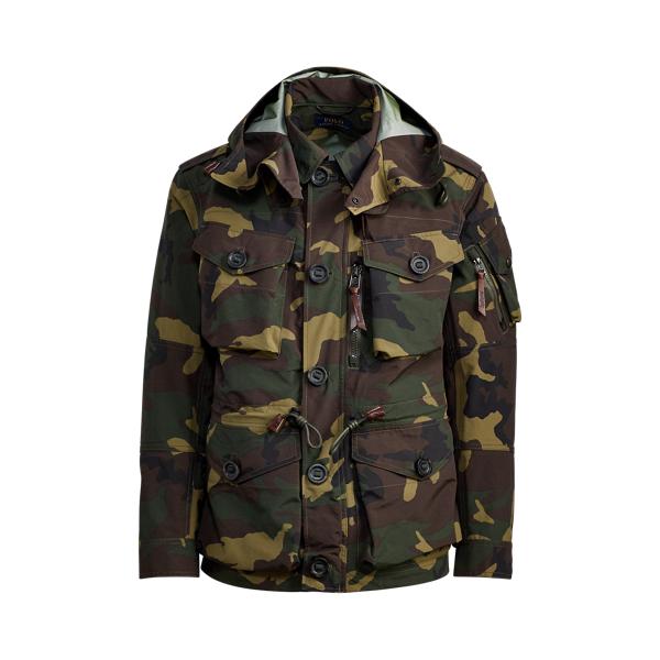 Ralph Lauren Camo Hooded Utility Jacket Vintage Surplus Camo S