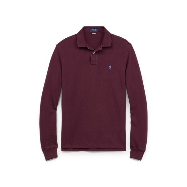 Ralph Lauren Classic Fit Long-Sleeve Polo Fall Burgundy Xs