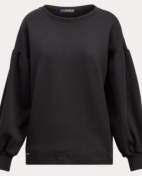 Cotton-Blend Crewneck Pullover