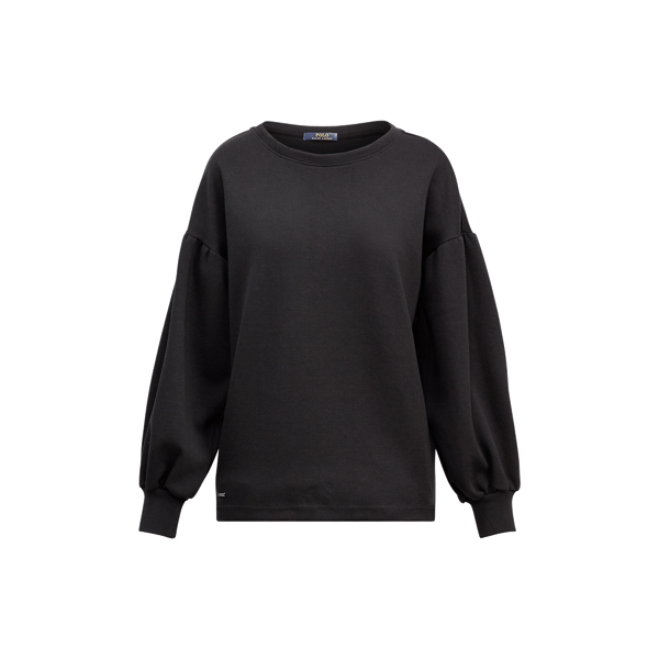 Ralph Lauren Cotton-Blend Crewneck Pullover Polo Black S