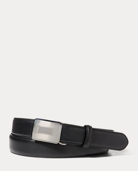 Engine-Turned Leather Belt