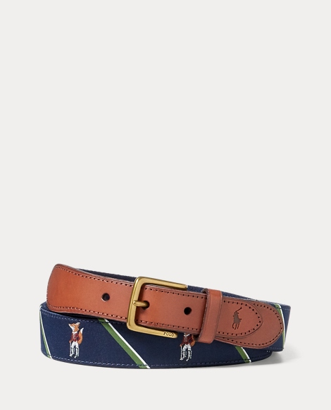 Fox-Overlay Webbed Belt