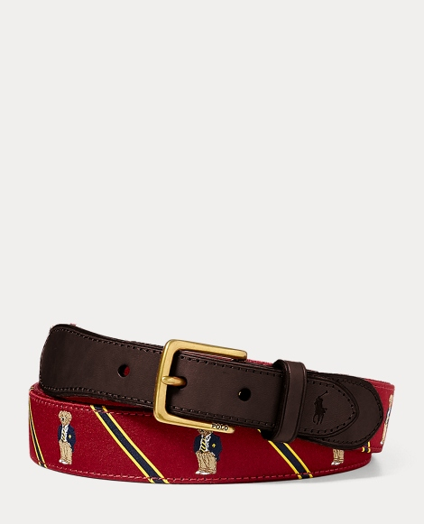 Polo Bear-Overlay Webbed Belt