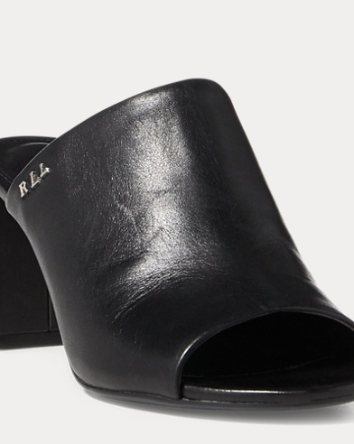 Harlowe Leather Slide Sandal