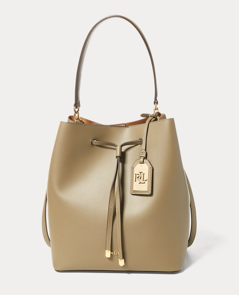 Leather Debby Drawstring Tote