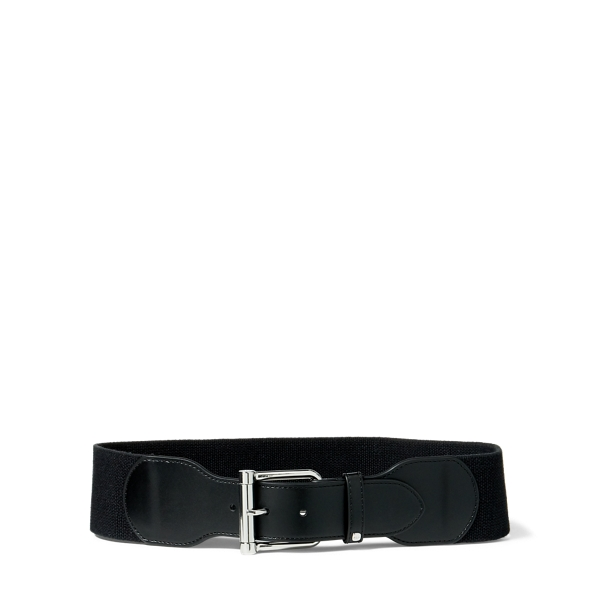 Ralph Lauren Wide Stretch Belt Black/Black S