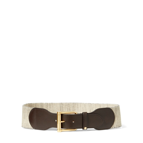 Ralph Lauren Wide Stretch Belt Dark Brown S