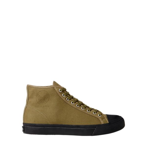 Ralph Lauren Mayport Canvas Sneaker Canvas Olive 10