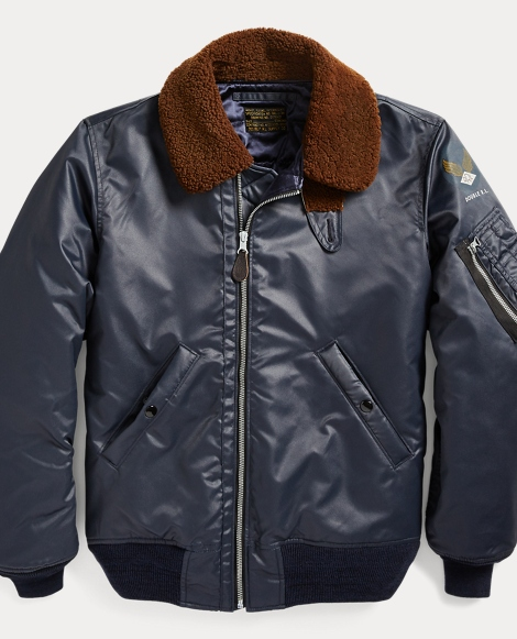 Shearling-Collar Down Jacket