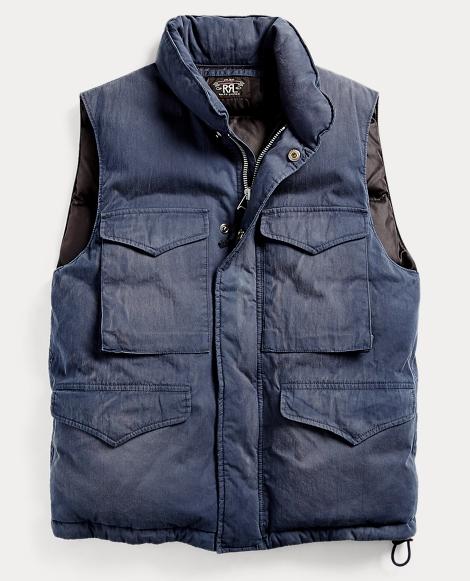 Cotton-Blend Down Vest
