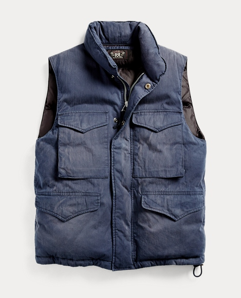 Cotton-Blend Down Vest