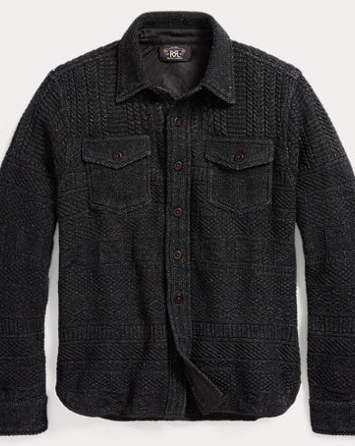 Cotton-Linen Shirt Sweater
