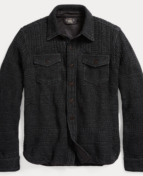 Cotton-Linen Shirt Sweater