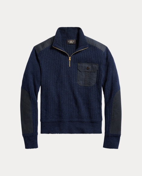 Wool-Cotton Half-Zip Sweater
