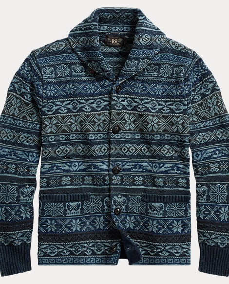 Fair Isle Cotton Cardigan