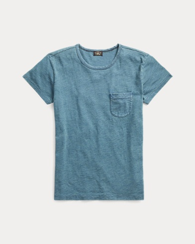 Indigo Cotton Pocket T-Shirt
