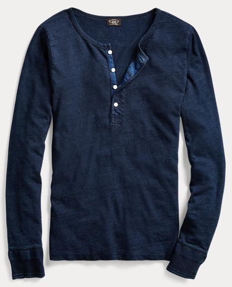 Cotton-Linen Jersey Henley
