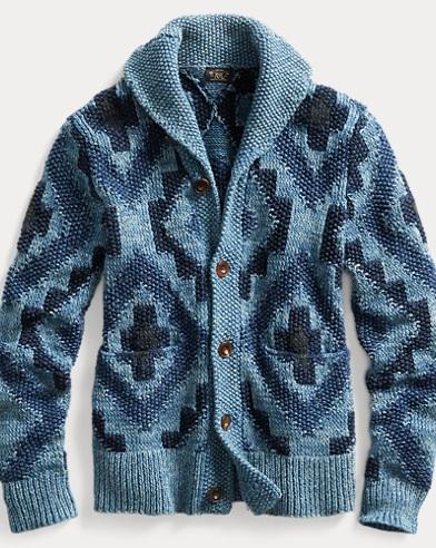 Hand-Knit Shawl Cardigan