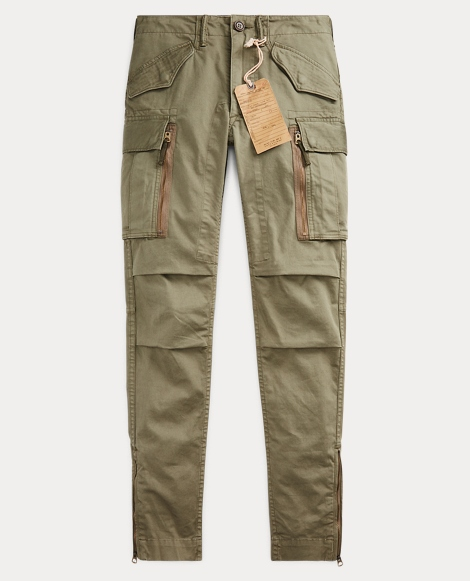 Skinny Cotton Cargo Pant
