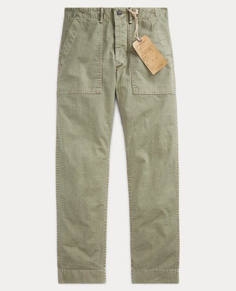 Cotton Herringbone Army Pant