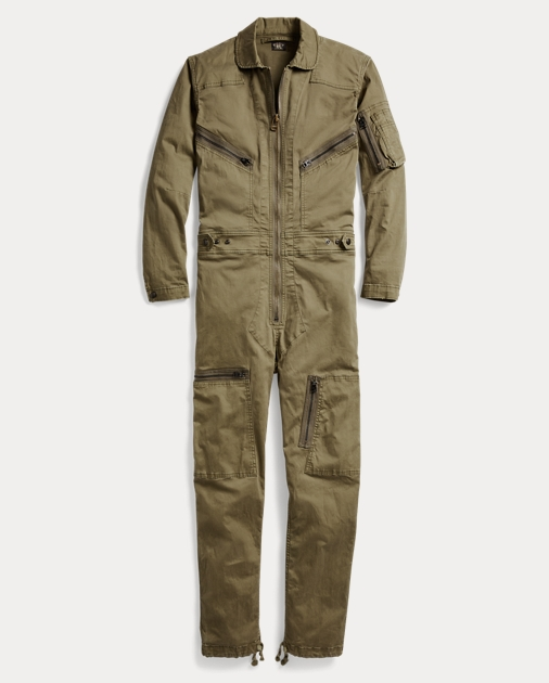 Cotton Twill Military Coverall by Ralph Lauren