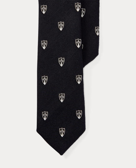 Wool-Silk Narrow Club Tie