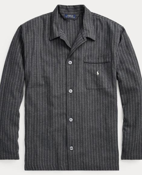 Pinstripe Flannel Pajama Shirt