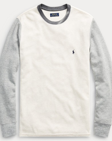 Color-Blocked Waffle T-Shirt