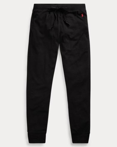 Waffle-Knit Cotton Jogger Pant