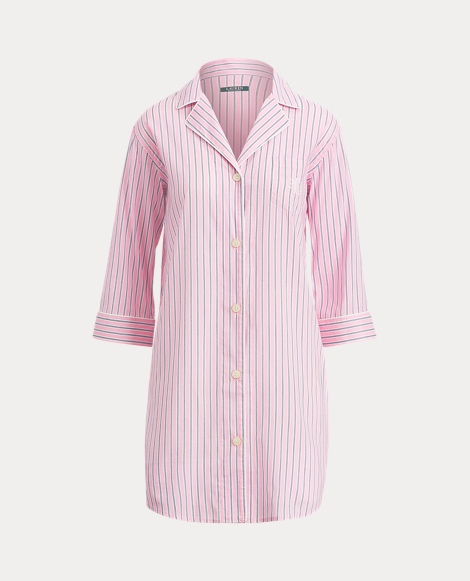 Striped Lawn Sleep Shirt