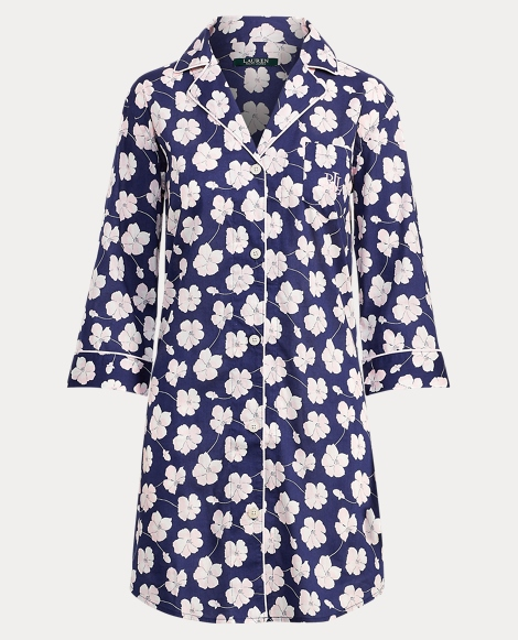 Floral Lawn Pajama Shirt