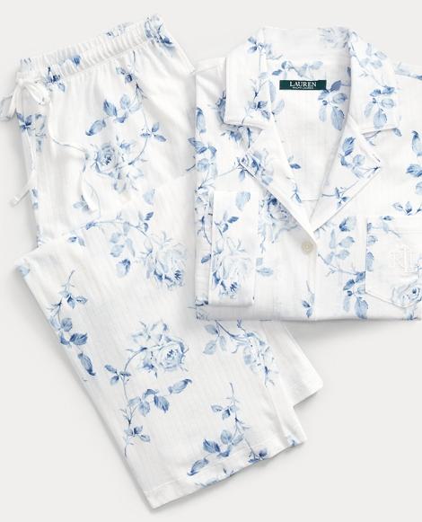 Floral Cotton Capri Pajama Set