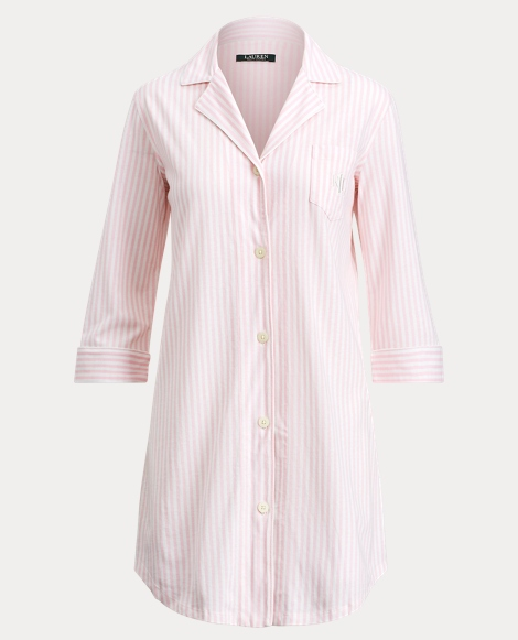 Striped Jersey Pajama Shirt