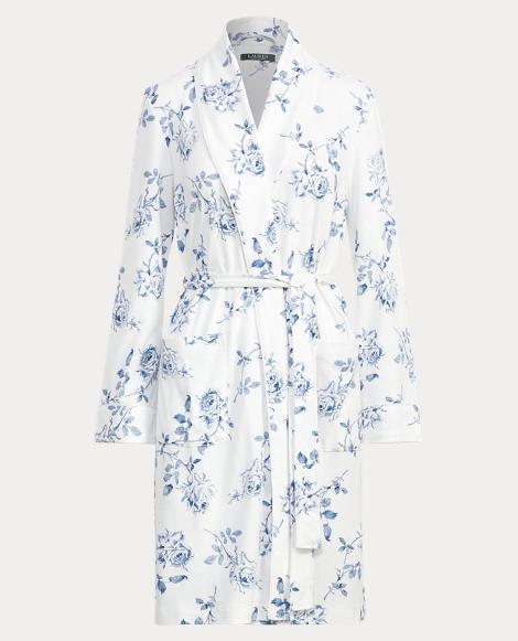 Floral-Print Interlock Robe