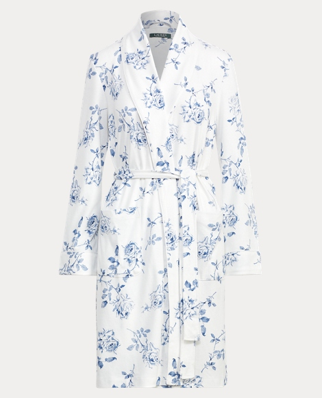 Floral-Print Interlock Robe