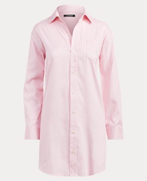 Herringbone Sateen Sleep Shirt