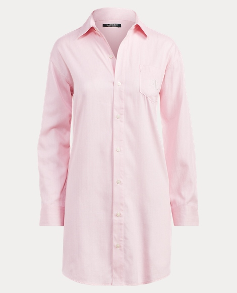 Herringbone Sateen Sleep Shirt