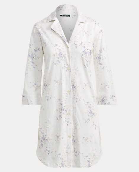 Floral Jersey Sleep Shirt