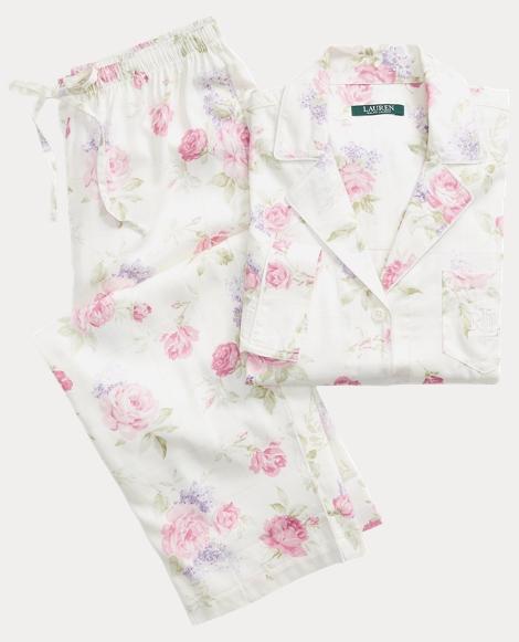 Floral Sateen Pajama Set