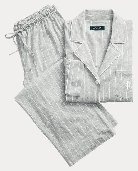 Striped Jersey Pajama Set