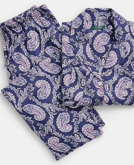 Paisley Cotton-Blend Sleep Set