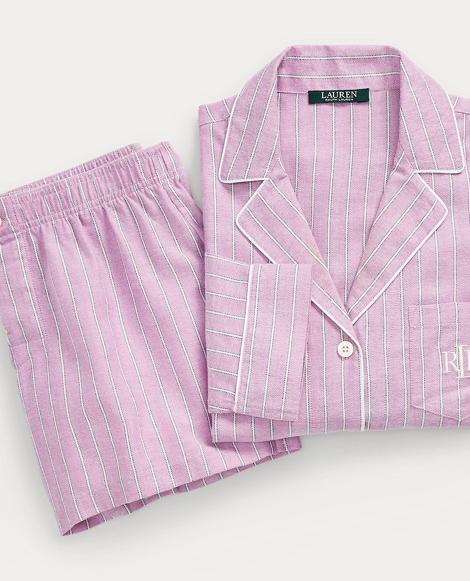 Stripe Cotton Pajama Short Set