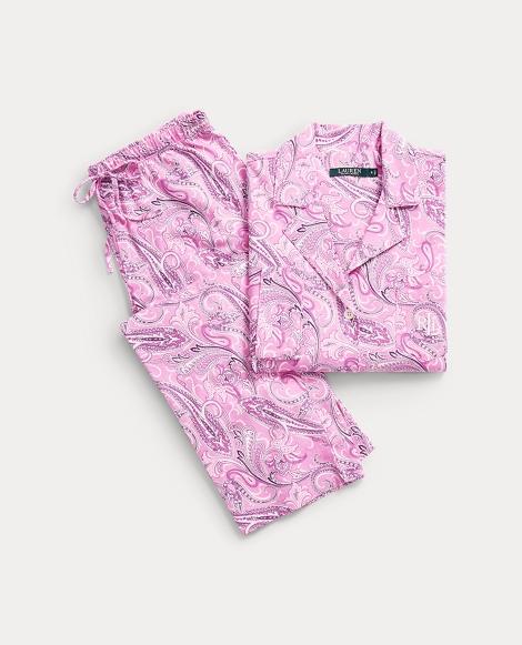 Paisley Jersey Pajama Set