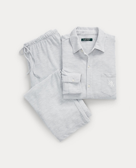 Heathered Jersey Sleep Set