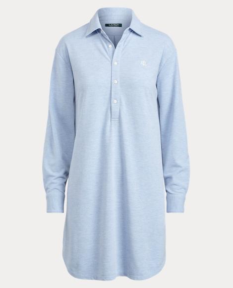 Cotton-Blend Pajama Shirt
