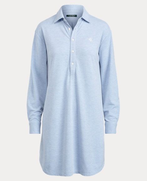 Cotton-Blend Pajama Shirt